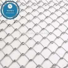 High Quality hot dipped galvanized diamond wire mesh used chain link fence for sale factory price(Guangzhou Factory)