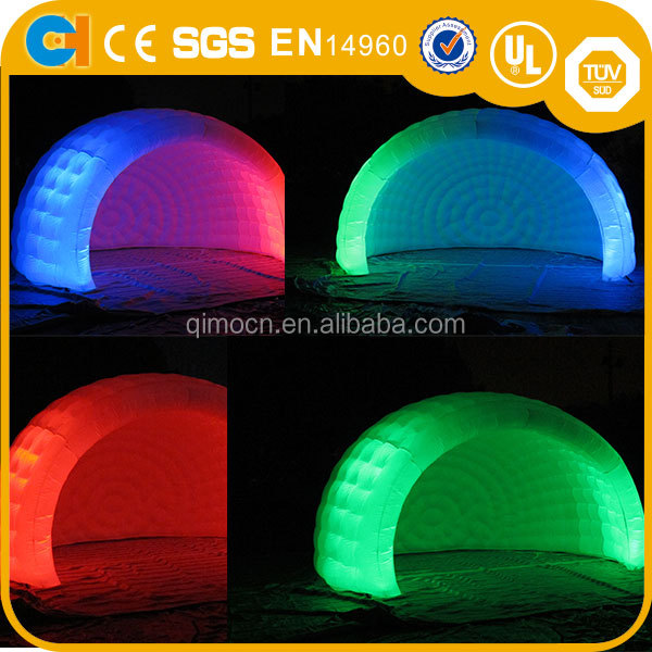Lighting LED inflatable tent for party, lighting dome inflatable party tent for sale