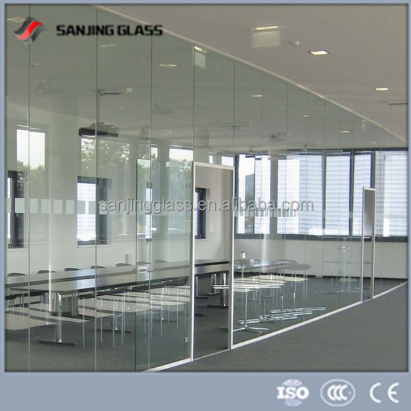 4mm Tempered Glass Office Glass Walls Prices