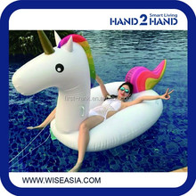Strongly recommended inflatable rainbow horse swimming ring floating for adult