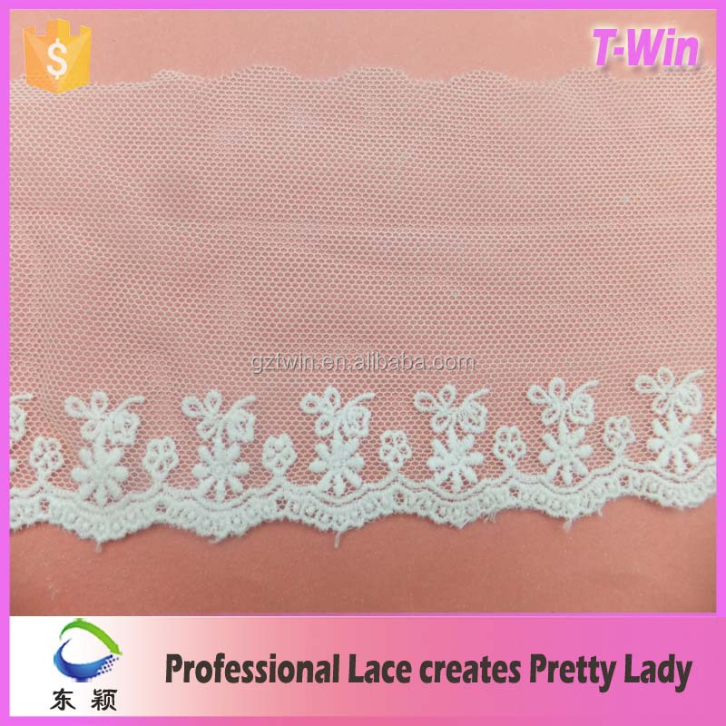 embroidery french lace trim wholesale new design for lace curtains