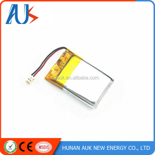 China Supplier 3.7 Volt Li-polymer Rechargeable battery / 3.7V 90mAh Lipo battries 381623/401030/401225