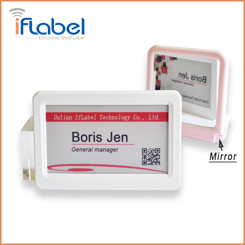 L016 IfLabel 7.5 inch Black&White Red color Double-side with White Frame replacement of manual price labelling