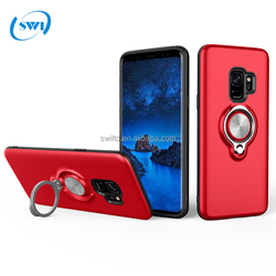 Dual Layer Armor Hybrid Kickstand With Ring Holder Shockproof Bumper Heavy Duty Phone Case For Samsung S9