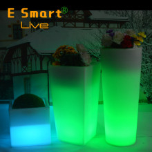 LED glow flower pot/LED vase/16 color change pot