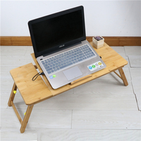 Best choose eco friendly adjustable laptop desk bamboo wooden bed table for laptop