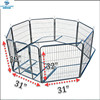 new Dog Kennel Outdoor Pet Play Pen Cat Cage 8 Panels Heavy Duty Metal Exercise