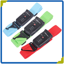 Wholesale luggage belt with plastic buckle and TSA digital lock