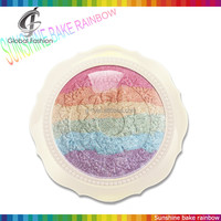 Mineral makeup palette miss yifi sweet 6colors sunshine baked rainbow highlighter makeup palettes