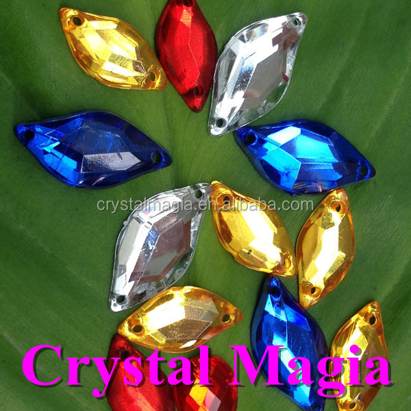 new cheap acrylic stones for clothes flat mirror back sewing on crystal