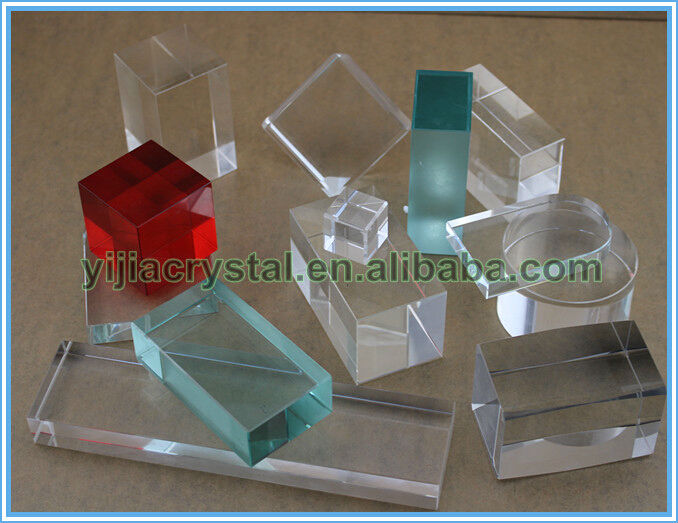 Colorful K9 Crystal Cube/Colored Cubic Crystal Block for Souvenirs