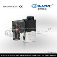 2/2 Diaphragm pilot operated solenoid valve 2v025-06 core size:1/8 NPT or PT ,BSPP/ 2 port /air,water,oil/12,24 ,110,220 dc /ac