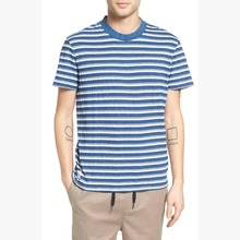 Blue and white knit jersey stripe sleeves t shirts mens wholesale cheap