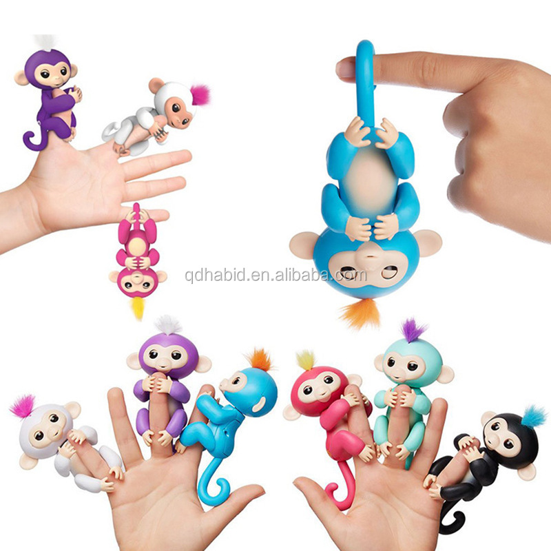 Amazon top selling interactive baby monkey toys for kids pet toy fingerlings monkey toys