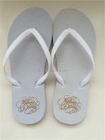 White Party Wedding flip flops