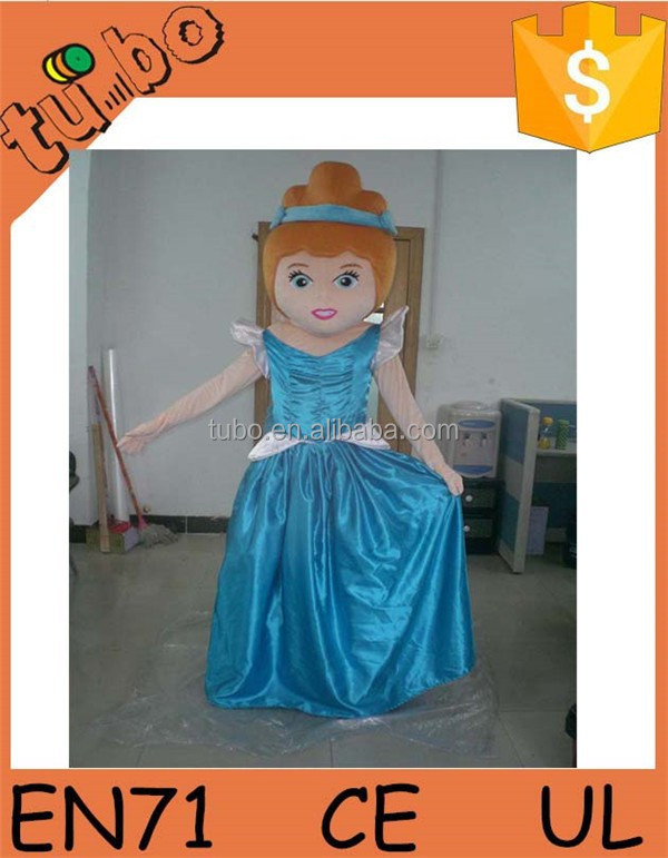 2015 Hot Sell custom plush professional cartoon character mascot princess costumes for performance/ promotion