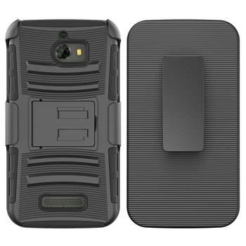 Best sales products in alibaba hybrid side kickstand with holster clip case for coolpad defiant