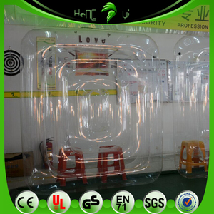 Clear PVC Water Game Inflatable Mattress, Floating Funny Inflatable Bed For Water Sport