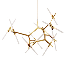 New Agnes Chandelier Modern Creative Hanging Lights Gold or Black with Tree Branch for Hotel projects