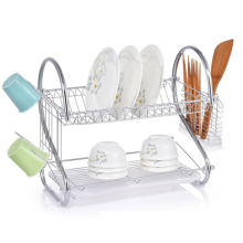 Fashion Multifunctional metal wire double tier drainer dish drying rack