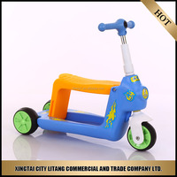 Hot selling three wheel kids scooter with strong steel and PVC wheel/Children foot pedal kick scooter