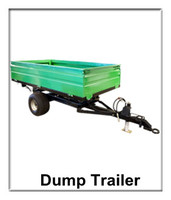 2 Wheel Farm Tipping Trailer for tractor lift, tipper dump trailer, wagon crane lift hardware in agriculture