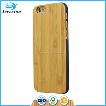 Natural Genuine wooden bamboo plastic phone case Wood Phone cover Mobile Phone bamboo Cases Cover For iPhone 6 6S factory price