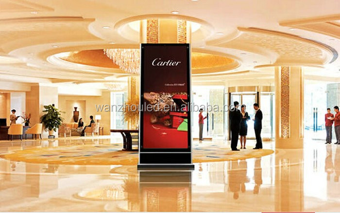 65 Inch Indoor Advertising LED TV Display, Floor Standing Outdoor LCD Screen