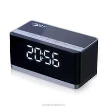 Clock Speaker Bluetooth Player USB MicroSD Radio FM Aux IN Eleciti DY27