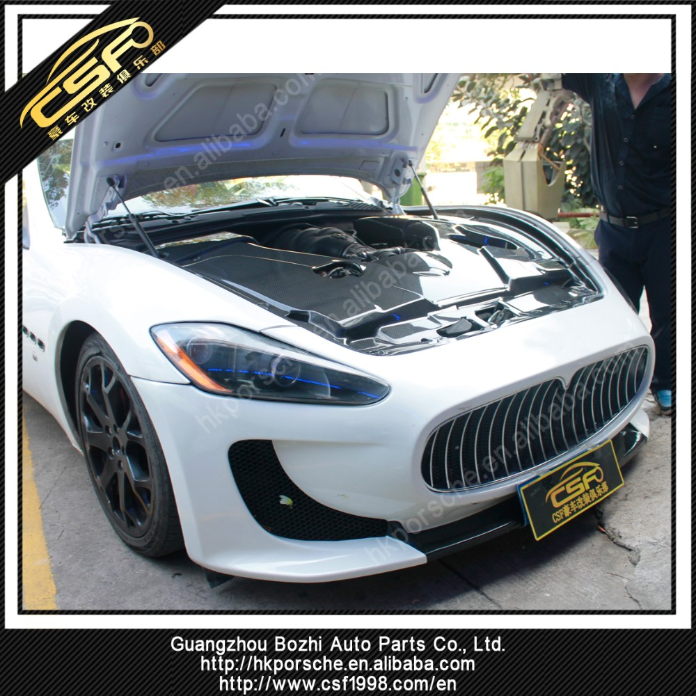 Carbon Fiber Front engine hood panel for Maserati Gran Turismo