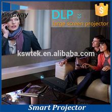 Home Business Education Use Smart Projector with Speaker Android 4.4 OS Wifi BT 4.0 Digital LED Projector