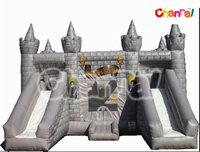 Customized Inflatable Wizard's Castle Bounce House with Slide