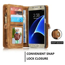 Wallet Handphone Case / Leather Flip Case For Samsung s7 / For Galaxy s7 Case Handphone