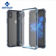 2017 hot products Adcanced shock absorption untra slim transprant hybrid clear crystal silicone back cover for iphone X