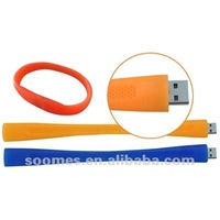 Promotion! 4GB Silicon Bracelet / wrist band Usb Flash Drive
