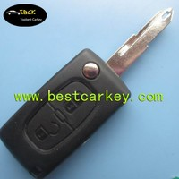Topbest 2 buttons remote control key for 406 flip car keys CE0536 434 MHz ID46 Chip car remote key