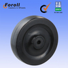 100mm china high quality black solid rubber wheel
