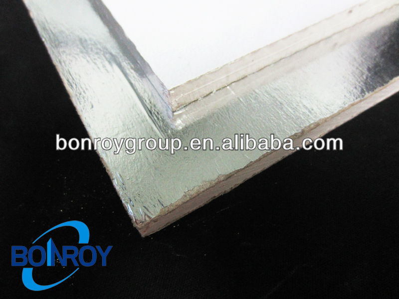 Laminated vinyl gypsum false celing tile