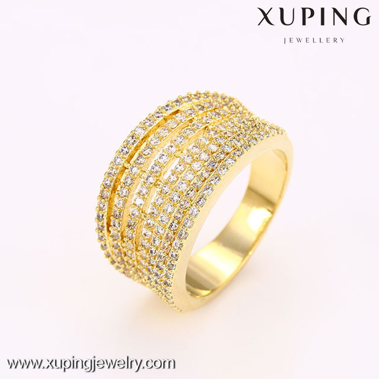 12704-xuping fashion 14 karat gold jewelry luxury beautiful women jewelry rings