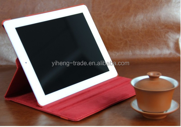 Newest Hot Selling Smart Cover Case For iPad 2 3 4 Classic 360 Degree Rotating Cases Swivel Stand PU Leather holder
