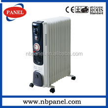 2014 hot sell cheaper oil heater with 400W fan and timer /oil filled heater/oil radiator(fins size:120x500mm,with CE/GS)