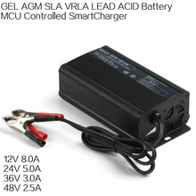 Aluminium housing MCU controlled smart battery charger e-bike battery charger 12V 24V 36V 48V portable battery charger