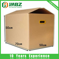 Customized Corrugated paper shipping box with plastic handle