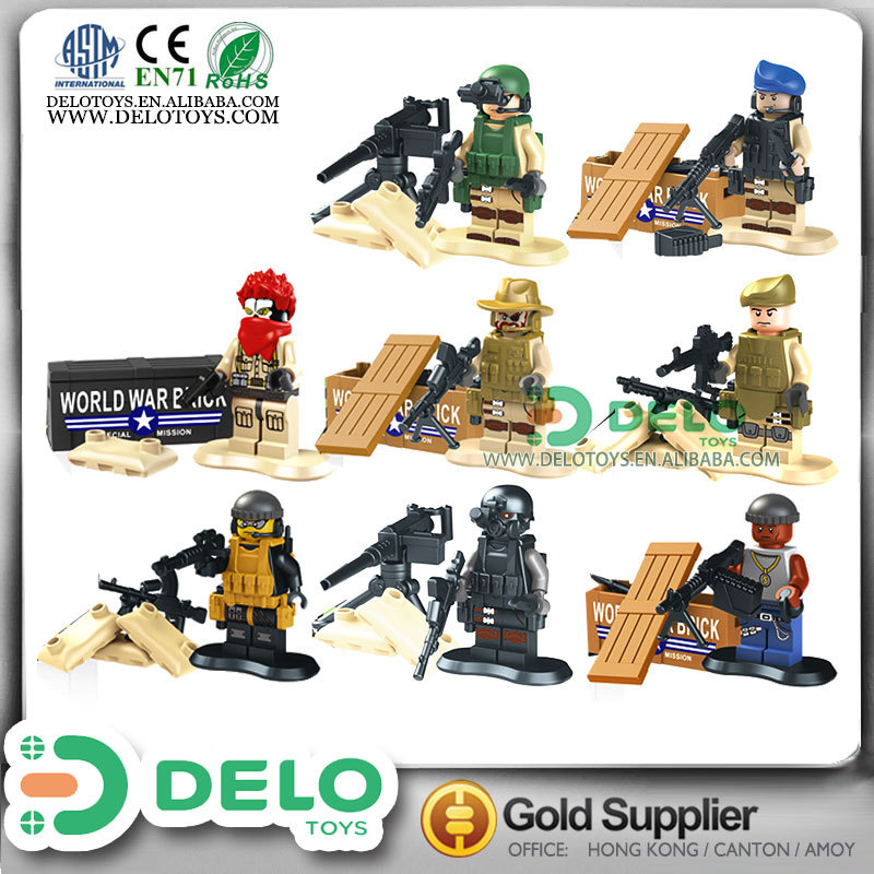 buy online china plastic toy soldiers set building blocks military set DE0084020