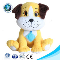 Best made toys plush teddy bear dog stuffed animals wholesale cute smile big eyes yellow soft plush dog