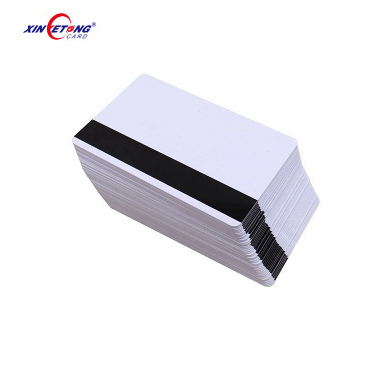 2,750 to 4,000OE High Coerciveness Blank White PVC Magnetic Stripe Cards with 0.76mm Thickness