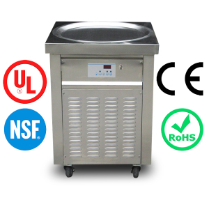 CE SASO NSF approved Kolice factory supply roll fried ice cream machine