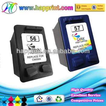 Compatible Ink Cartridge for Hp 56 57 C6656A C6657A Remanufactured Ink Cartridge for Hp56 Hp57 Inkjet Cartridge for Hp