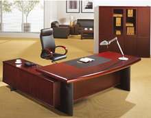 Customized high quality solid wood office working desk boss CEO manager table