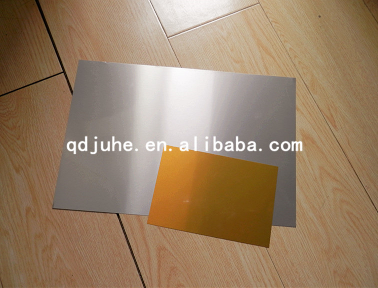 High quality Blank heat transfer sublimation aluminum sheet, mirror surface plate